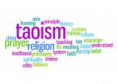 stock photo of taoism  - Taoism word cloud image with hi - JPG