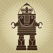 stock photo of past future  - Retro Vintage Robot Character - JPG