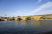 London Bridge In Lake Havasu, Old Historic Bridge Rebuilt With Original Stones In America