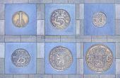 Collection Of Former Dutch Coins In Pavement