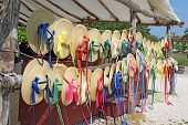 Straw Hats For Sale In Colonial Williamsburg, Virginia