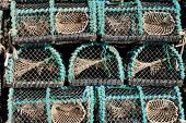 Closeup Of Worn Fishing Traps For Eels