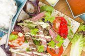foto of cheese-steak  - Grilled Beef Wraps  - JPG