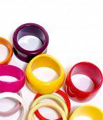 stock photo of bangles  - Fashion colorful bangles  - JPG
