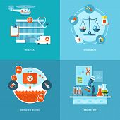 foto of mixture  - Vector medical and health icons set for web design - JPG