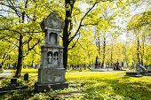 stock photo of cemetery  - A beautiful monument in the cemetery - JPG