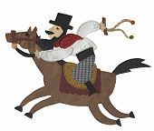 picture of gaucho  - photograph of a craft made  - JPG