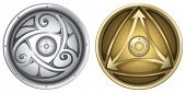 foto of viking  - Illustration of vikings shields - JPG