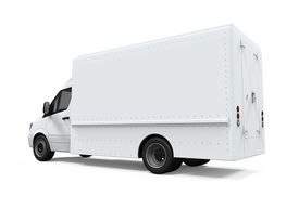 picture of designated driver  - Delivery Van Isolated on white background - JPG