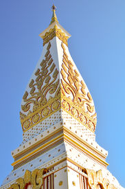 picture of rn  - Wat Phra That in Nakhonphanom provincenortheaste rn of Thailand - JPG
