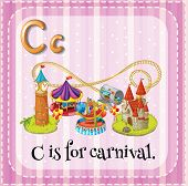 image of school carnival  - Illustration of an alphabet C is for carnival - JPG