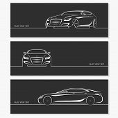 stock photo of luxury cars  - Set of modern car silhouettes - JPG