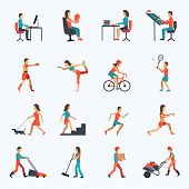 Постер, плакат: Physical Activity Icons
