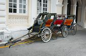 stock photo of rickshaw  - Four classic old - JPG