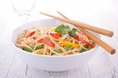 stock photo of noodles  - fried chinese noodles - JPG