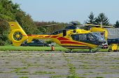 stock photo of ambulance  - Helicopter ambulance at the airport - JPG