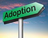 picture of guardian  - child adoption road sign becoming a legal guardian and getting guardianship and adopt young baby   - JPG