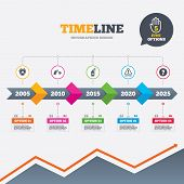 stock photo of shield-bug  - Timeline infographic with arrows - JPG