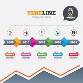image of sparkling wine  - Timeline infographic with arrows - JPG