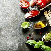 stock photo of kalamata olives  - Tomato sauce - JPG