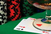 foto of poker hand  - The best starting hand in poker  - JPG