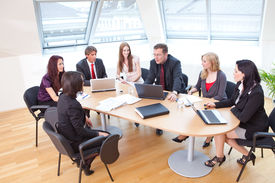 foto of business meetings  - focus group on a business meeting in a modern office - JPG