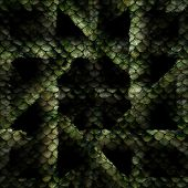 picture of jungle snake  - snake pattern crosswise in the color green - JPG