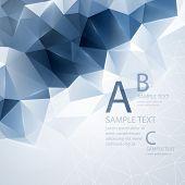 foto of triangular pyramids  - Low poly triangular background - JPG