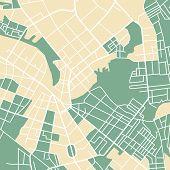foto of cartographer  - Editable vector street map of town - JPG