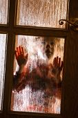 stock photo of diffusion  - Child behind door of glass - JPG