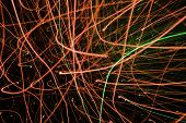 stock photo of laser beam  - Light display - JPG