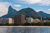 stock photo of carnival rio  - Rio de Janeiro Botafogo District Skyline with Corcovado Mountain - JPG