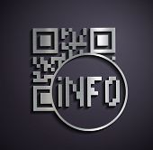 picture of qr codes  - Flat metallic Icon qr code - JPG