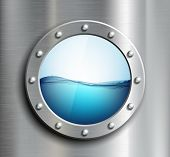 picture of oceanography  - Round window on the ship - JPG