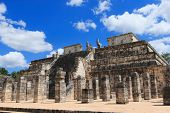 picture of serpent  - Chichen Itza feathered serpent pyramid - JPG
