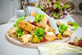 picture of catering  - Catering food decorated on table in restaurant - JPG