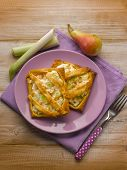 foto of leek  - little pie with ricotta pear and leek - JPG