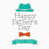 stock photo of happy day  - Retro Style Happy Father - JPG