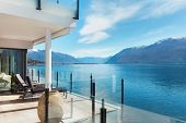 stock photo of penthouse  - beautiful terrace of a modern penthouse - JPG