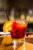 picture of sangria  - Bartender making Red Sangria in Italian restaurant - JPG