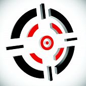 stock photo of crosshair  - Crosshair reticle vector graphics - JPG