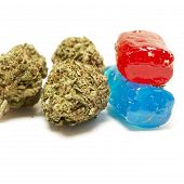 foto of medical marijuana  - Marijuana and Hard Candy Containing Medical Marijuana THC - JPG
