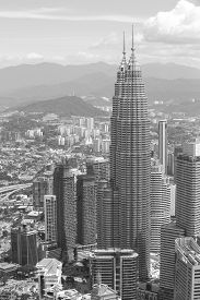 image of kuala lumpur skyline  - City skyline panorama in Kuala Lumpur - JPG
