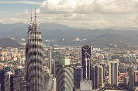 foto of kuala lumpur skyline  - City skyline panorama in Kuala Lumpur - JPG