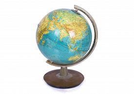 foto of globe  - globe earth on a white background isolated - JPG