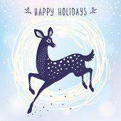 Постер, плакат: Deer cute stylized