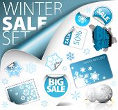 Set Of Winter Discount Elements