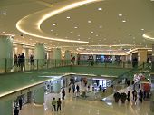 image of shopping center  - the interior of modern shop in china - JPG