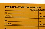 pic of interoffice  - interdepartmental envelope used for interoffice communication agatinst a white background - JPG