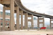 pic of skyway bridge  - Buffalo New York Skyway bridge leading into downtown Buffalo - JPG